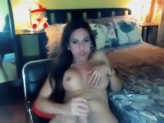 Shemale Mistress Plays Huge Cock and Boobs
