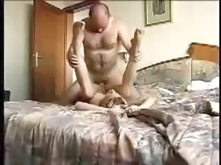 Blondie gets questioned, stripped – and filmed fucking on a big bed