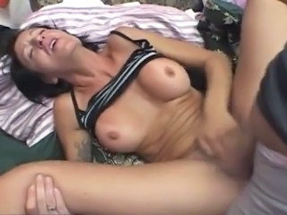Skanky mature got laid and spunked By two Guys.