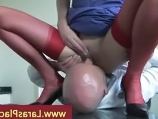 Perverted mature lady getting her pussy eaten