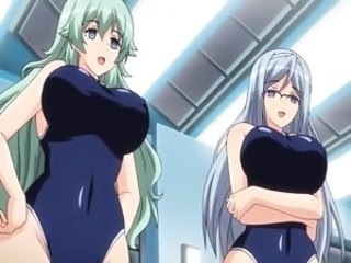 Big titted hentai babes in swimsuits