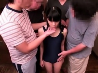 Tiny enema asian face jizzed