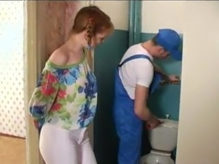 Lucy Pays A Plumber Service round Her Awesome And Sleaze body shape