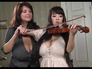 Busty Teacher Plays With Busty Student