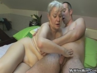 She sucks and fucks her son in law free