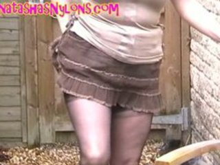 english milf in darksome seamed fully fashioned stockings