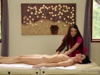 girls relax with a kinky massage