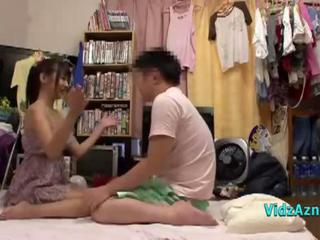 Asian Teen Giving Blowjob Licked In 69 On The Mattress In The Roo Sex Tubes