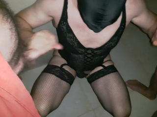 French slut crossdresser in a club Sex Tubes