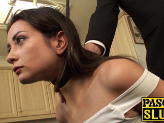 Pretty submissive slut tied up and ass rammed by maledom Sex Tubes