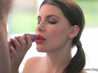Pigtail Babe Blows Her Horny Guy Sex Tubes