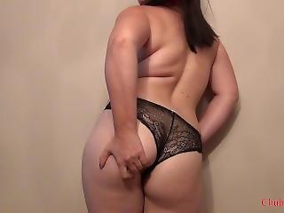 Chubby Girl Touching Her Belly, Tits And Butt
