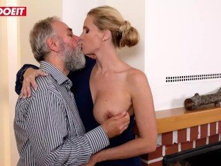 LETSDOEIT - Old Perv Step Dad Fucks Mother and Daughter