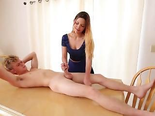 Dustin Cage Gets A Fantastic Handjob From His Teacher