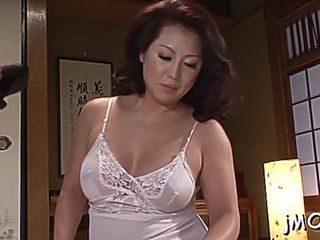 Beautiful japanese mature sweetie neko ayami gets naked