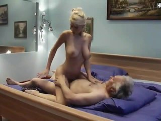 Sepdaughter with perfect boobs riding stepdad