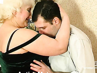 Horny guy slipping into mommy