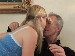 Grandpa loves younger teen