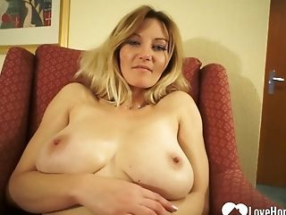 Large-titted Chick Shows Off Her Solo Masturbating Abilities