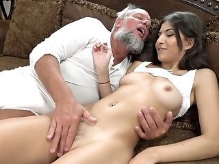 Old Fart Likes Fucking Sizzling Youthful Sweetie With Brilliant Figure Anya Krey