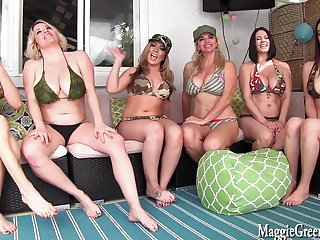 6 Girl Neighborhood Orgy! Maggie Vicky Jelena, Cleo, Carmen